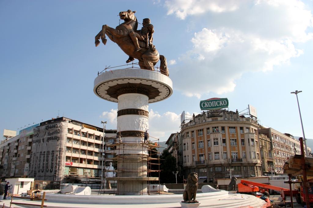 Estatua de Alejandro Magno, en el centro de Skopje. © J. Giorgi