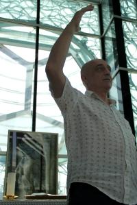 Vangel Bozynovski, president de l'Associació d'Arquitectes de Skopje.