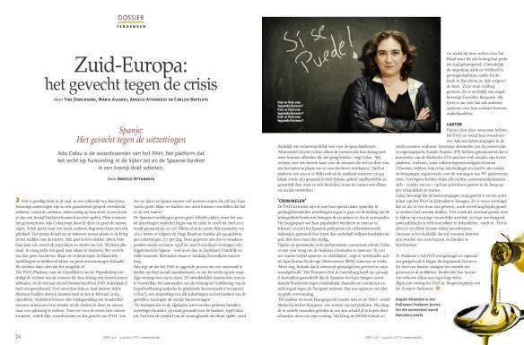 Ritratto di Ada Colau, portavoce dell'associazione spagnola PAH.