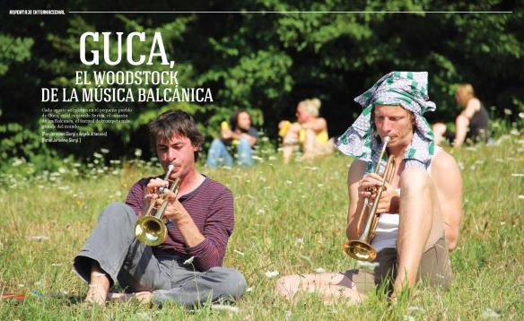 Cada agosto se celebra en el pequeño pueblo de Guča, en el centro de Serbia, el corazón de los Balcanes, el festival de trompeta más grande del mundo. © J. Giorgi